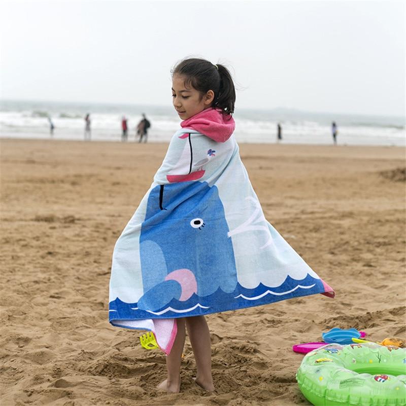 Telo Da Mare Per Bambini 100% Del Cotone Del Fumetto Dei Bambini Asciugamani Da Bagno Doccia Asciugamano Indossabile Nuoto Spiaggia Wrap Bagno Ragazzo E Una Ragazza 60yj10 Vendite Di Garanzia Della Qualità