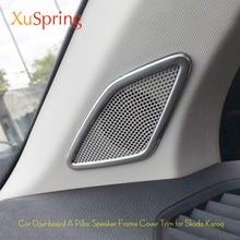 Car Dashboard A Pillar Speaker Bezel Frame Cover Sticker Strips Garnish Car Styling 2Pcs/Set For Skoda Karoq 2017 2018