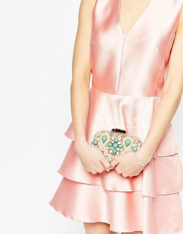 Dîner Parti Petit Robe Blanc Sacs Mori Dames À Nu New Main Frais Diamant Sac Custom 7SqU87