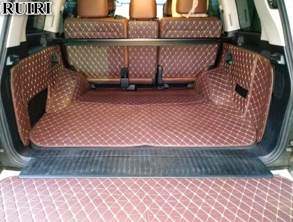 Livraison gratuite! Ensemble complet tronc tapis pour Toyota Land Cruiser 200 5 sièges 2018-2010 étanche cargo liner boot tapis pour LC200