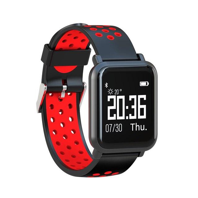 1491c19b81e SN60 Smartwatch Relógio Inteligente Sono Monitor de Pressão Arterial e  Freqüência Cardíaca Esportes IP68 À Prova