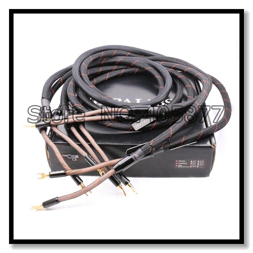 The One Loudspeaker Cable Spade Plug hifi speaker cable 100% brand new audiophile speaker Cable 2.5M with original box the one loudspeaker cable spade plug hifi speaker cable 100% brand new audiophile speaker cable 2 5m with original box