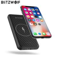 BlitzWolf Wireless Charger Power Bank 10000mAh 15W Dual USB Lithium Polymer External Battery Powerbank for iphone X For Xiaomi