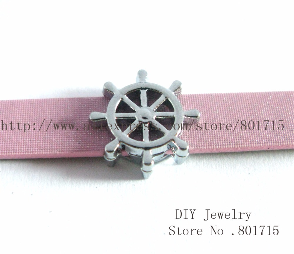 5pcs rubber SL403 Internal Dia.8mm slide Charms Jewelry Finding fit 8mm wristband pet collar key chain