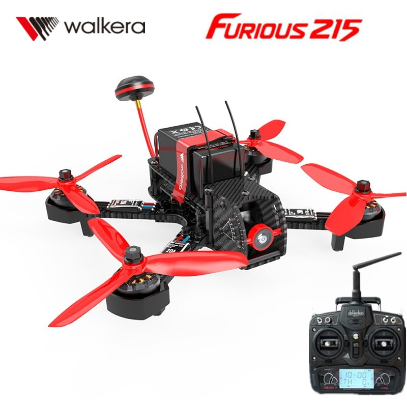 Walkera Furious 215 RC Racing Drone with DEVO 7 Transmitter RC Quadcopter with 600TVL Camera and F3 Flight Control RTF walkera devention devo 10 2 4ghz 10ch telemetry rc transmitter for rc quadcopter