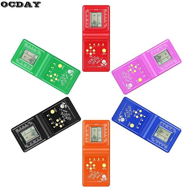 Retro LCD Spiel Elektronische Tetris Brick Classic Handheld Arcade Tasche Spiel Maschine Für Kinder Pädagogisches Spielzeug mit Spiel Musik