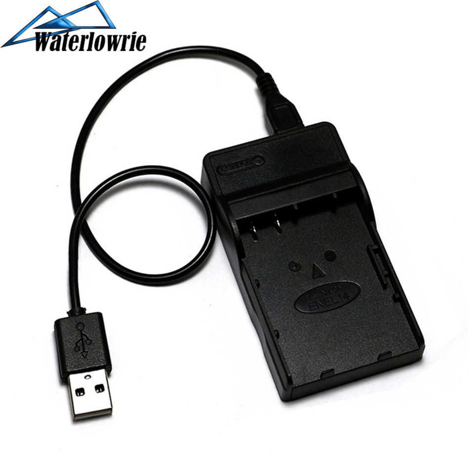 Waterlowrie USB LP-E5 LP E5 Camera Charger LPE5 For Canon EOS 1000D 450D 500D Kiss F Kiss X2 Kiss X3 Rebel T1i Rebel XS image