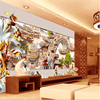 Beibehang Large Custom Wallpapers High Grade Ching Ming River Scene Three Dimensional Embossed Lotus Living Room