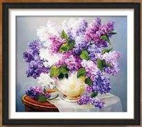 Զամբյուղ ծաղիկների ադամանդի ներկերի - Արվեստ, արհեստ և կարի - Լուսանկար 3
