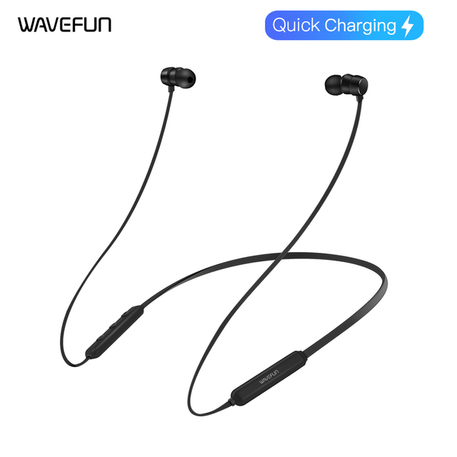 Wavefun Flex Pro Quick Charging Bluetooth Earphone Sports Wireless Headphones AAC Stereo Headset for Phone Xiaomi iPhone Android