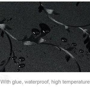 Image 5 - Anti UV Black Opaque Window Stickers Glass Film insulation Self adhesive Film Childrens room cupboard Home Decorative 80*200cm