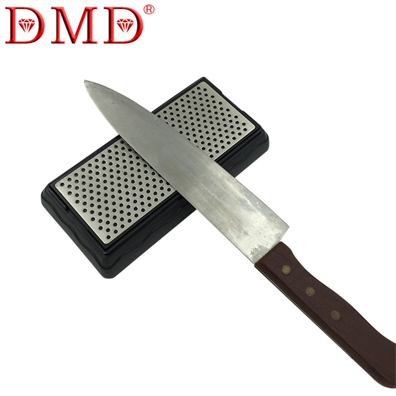 Hot sale 1pc DMD double-sided diamond whetstone kitchen knife <font><b>sharpener</b></font> tools sharpening stone 400 1000 grit with <font><b>Angle</b></font> Guide