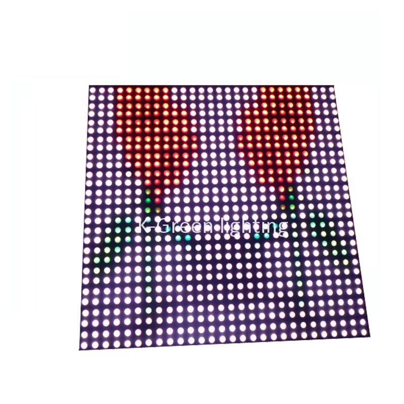 5X en gros P10 plaque de panneau de fibres APA102 RGB couleur 784 pixels écran de LED matricielle livraison gratuite express