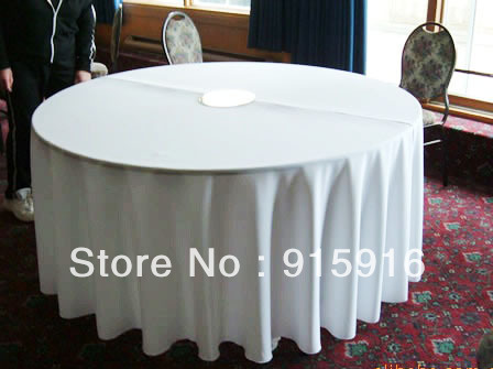 """wholesale cheap polyester table cloths, 108"""" round, white tablecloths"""