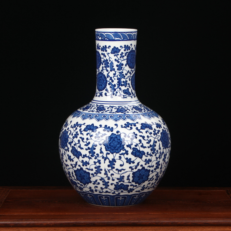 Jingdezhen Porcelain vase chinese ceramic vase China flower pot vase modern Chinese crafts blue and white chinese vase vase