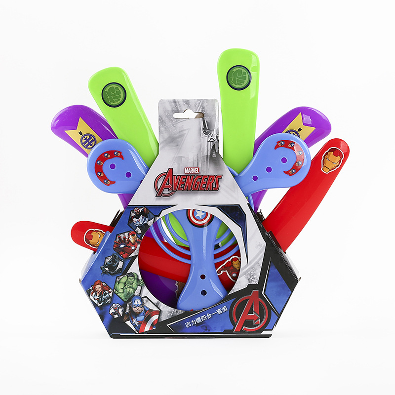 Disney Marvel Avengers 4pcs/set Different Boomerangs Kids Xmas Gifts Outdoor Fun Sports Toys for Children Boys Exercises