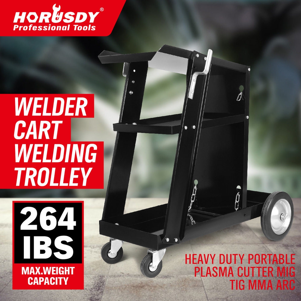 New Welding Cart Trolley Welder Storage Bench Mig Tig Arc MMA Plasma Cutter