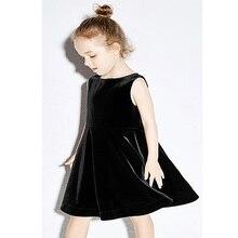 Girls Kids velvet Dresses 2018 Spring Summer Children Clothing For Girls Princess Wear Party Gifts Fashion Style Dress Costume