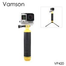Vamson для go pro Hero 9, 8, 7, 6, 5, 4, черный водонепроницаемый плавающий ручной захват, водный спорт для DJI Action для Yi 4K для GoPro VP418