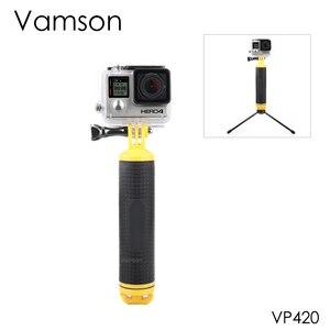Image 1 - Vamson для go pro Hero 9, 8, 7, 6, 5, 4, черный водонепроницаемый плавающий ручной захват, водный спорт для DJI Action для Yi 4K для GoPro VP418