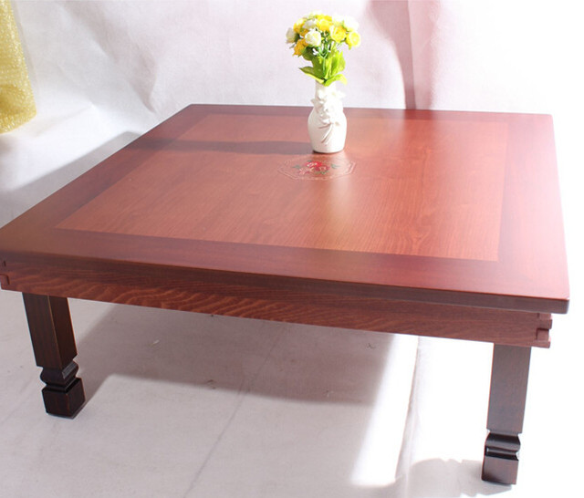 Asian Antique Furniture Korean Folding Table Legs Foldable Square 70cm  Living Room Coffee Table For Tea Traditional Low Table