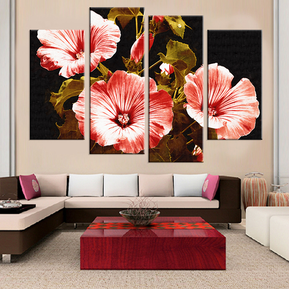 Buy canvas painting flower print cuadros for Decoracion de cuadros