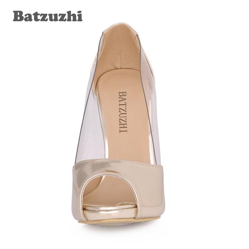 As Transparent Nouvelle 11 Peep Taille Cm 2018 Confortable Toe Femmes Picture Chaussures 35 Pompes À Marque 43 Batzuzhi Hauts Talons RqUwnWfn