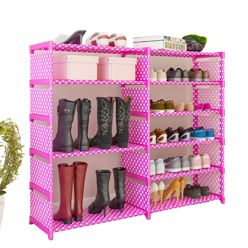 Simple Multi-layer Shoe Rack Household Storage Cabinet Cloth Dust-proof Assembly Bedroom Dormitory Shoe ShelfSimple Multi-layer Shoe Rack Household Storage Cabinet Cloth Dust-proof Assembly Bedroom Dormitory Shoe Shelf