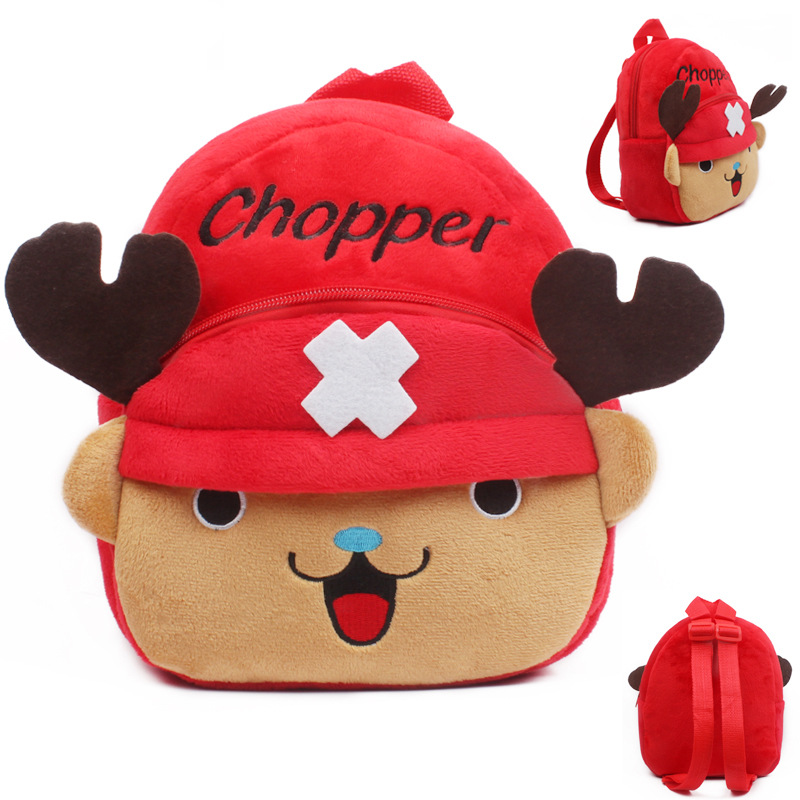 Baby mini school bag ONE PIECE Tony Tony Chopper children plush backpack toys for kindergarten kids boys girls schoolbag