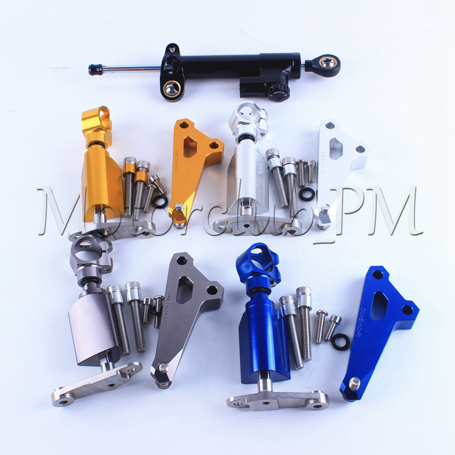 High Quality New Motorcycle Steering Damper Stabilizer with Mounting Bracket Kit For BMW S1000RR 2014-2015 4 Colors Available