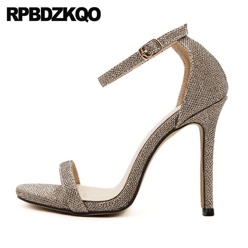 Detail Feedback Questions about Designer Sandals Women Luxury 2018 Shoes  Pvc Gold Exotic Dancer Pumps Transparent Stiletto Clear Stripper High Heels  Ankle ... b9afb5f80457