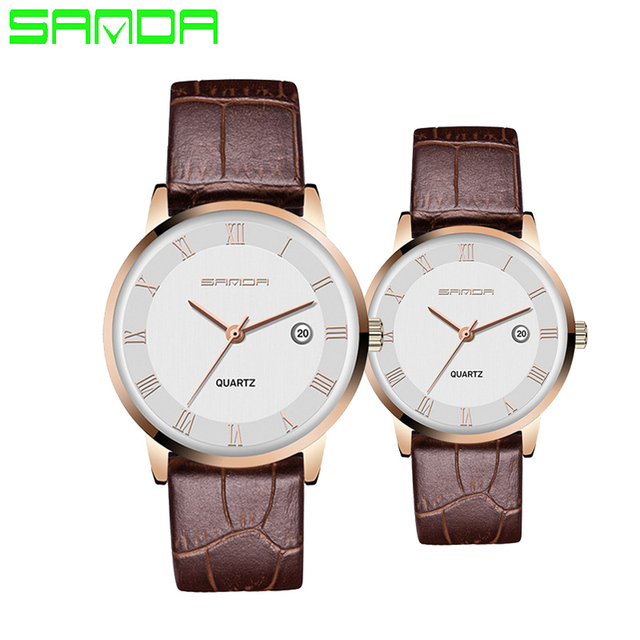 SANDA Lovers' Watch Men Women Fashion Casual Watches Lover's Quartz Watch Reloj