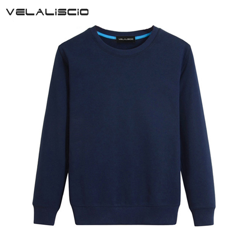 VELALISCIO Brand 2017 New Autumn Winter Fashion Hip Hop Hoodies Casual Large Size Coat Men Solid Street Sweatshirts Pullover
