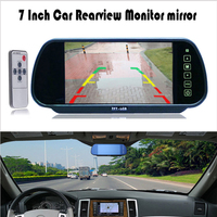 7 Inch TFT LCD Widescreen Car Monitor Touch Button Support DVD Car Rearview Mirror Monitor 7