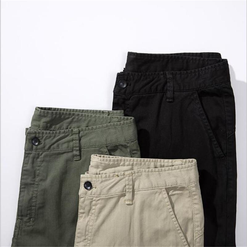 Modis Pantalones Black Recta Moda army Japonés Sueltos De Hombre Algodón khaki Coreano Tendencia Hombres Estaciones Green Cuatro Gran Los dgSx4wF