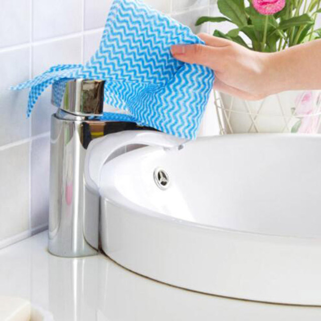 Non Woven Kain Lap Dapur Bersih Hidangan Stick Penggosok Cuci Minyak