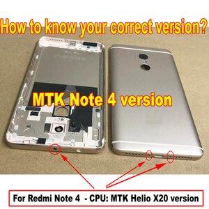 Image 5 - MTK Helio X20 / Snapdragon 625 Global 32GB/64GB pantalla LCD MONTAJE DE digitalizador con pantalla táctil + marco para Xiaomi Redmi Note 4 4X