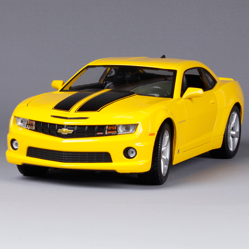 Maisto 1:18 2010 Chevrolet Camaro SS RS Sports Car Transformers Hornets Diecast Model Car Toy New In Box Free Shipping 31173 revell model 1 25 scale 85 7457 69 camaro z 28 rs plastic model kit