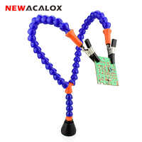 NEWACALOX Soldering Iron Holder Soldering Station For PCB Fixture Helping Hands with Y-connector Magnet base Repair welding Tool