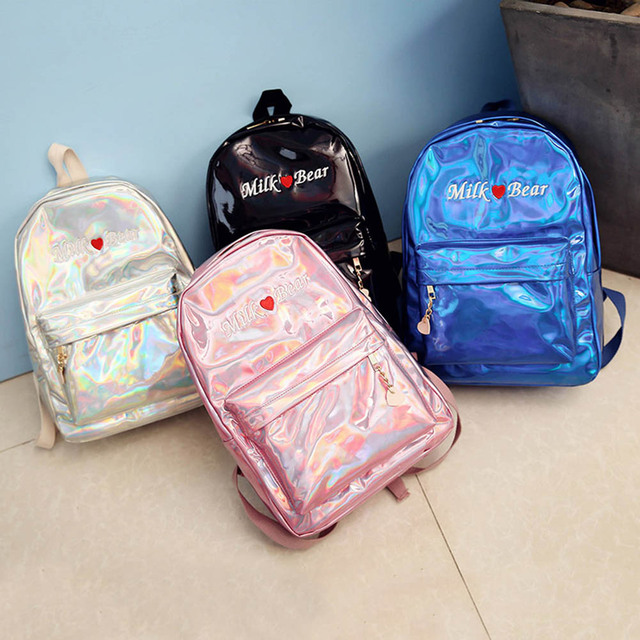 Women Leather Backpacks Laser Embroidery For Teenagers Girls Large Capacity  Female Travel LBY2018 cb2dce7a02835