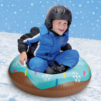 Blue Donut Skiing SnowSled Kids Swimming Ring Children Float Inflatable Snow Tube Lawn Beach Outdoor Slippery Toys For Boy Girls