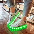 WGZNYN Марка 7 Цветов 2016 Новых Людей ПРИВЕЛО Обувь Световой человек Повседневная Обувь Led Обувь для Взрослых USB Зарядки Огни NX0800