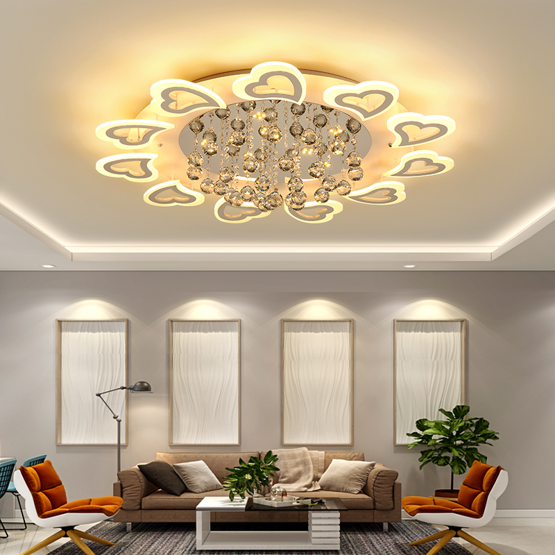 Modern Led Pendant Lamps Living Room Acrylic Fixture: Modern Led Chandelier Light Fixture For Living Room Bed