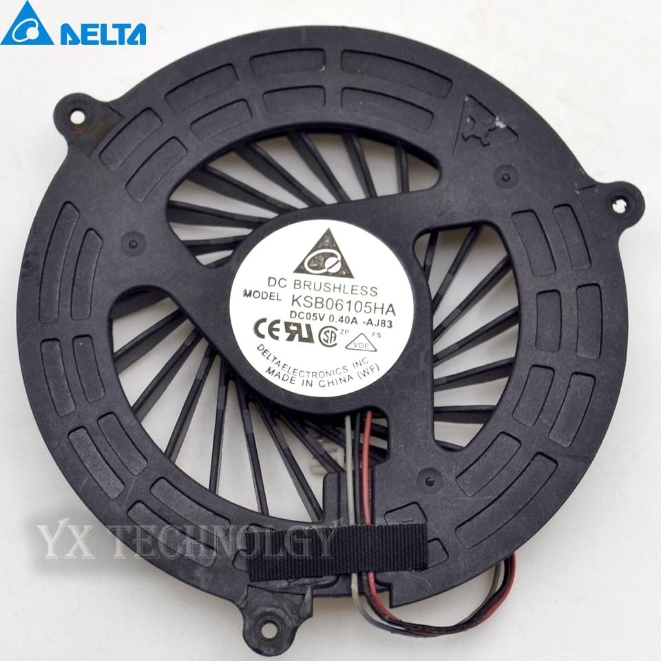 Delta New for  5750 5755 5350 5750G 5755G V3-571G V3-571 E1-531G E1-531 E1-571 laptop cpu cooling fan cooler KSB06105HA AJ83 cpu cooling fan for delta delta buc1012vn 00 12v 0 8a bvz laptop cpu fan