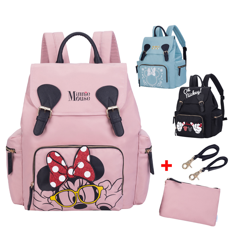 Disney Mickey Minnie Diaper Bags Poussette Sac A Main Voyage Sac à dos Grande Capacité
