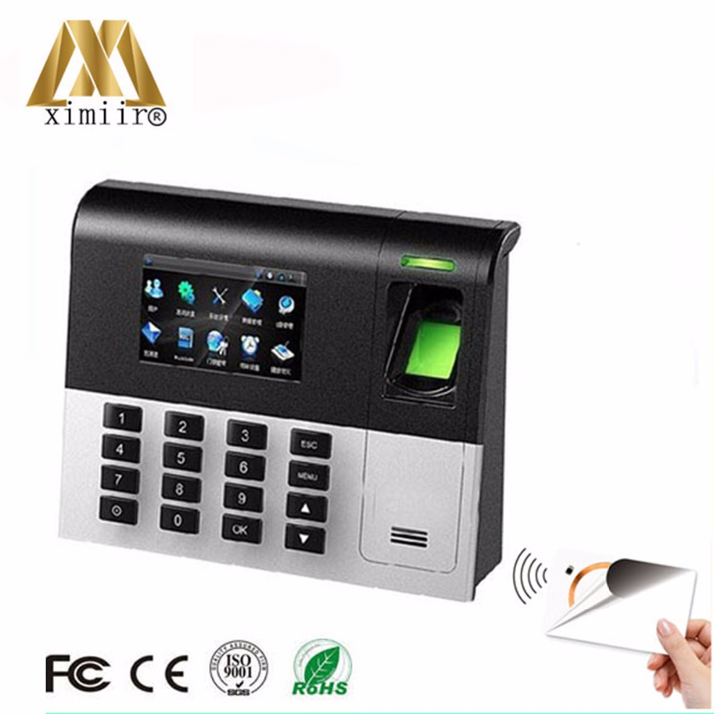 ZK UA200 Time Clock System Biometric Fingerprint Time Attendance TCP/IP Communication Linux System With MF IC Card Reader