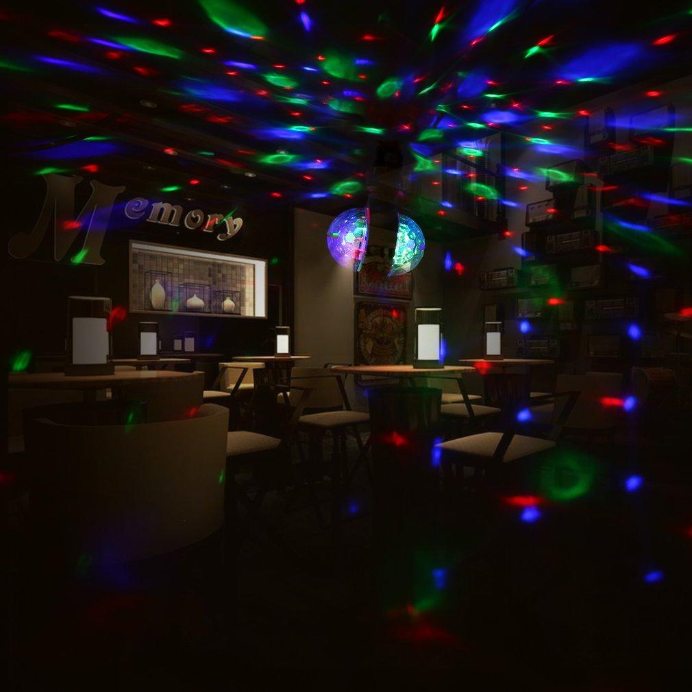 LED 6W Rotating Bulb Light with Dual Head Magic Stage Disco Lamp Double-headed For KTV Disco Bar DJ Ballroom Home Club PO.2