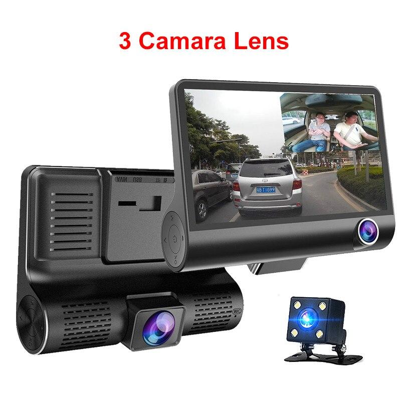 Dash-Camera Video-Recorder DVR Auto-Registrator-Dvrs Dual-Lens with 3 Newcarpro