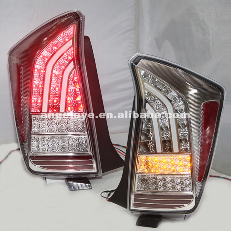 For TOYOTA Prius LED Taillight Prius Back Lamp 2009-UP Chrome Housing Clear Cover JY