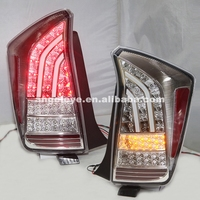 For TOYOTA Prius LED Taillight Prius Back Lamp 2009 UP Chrome Housing Clear Cover JY